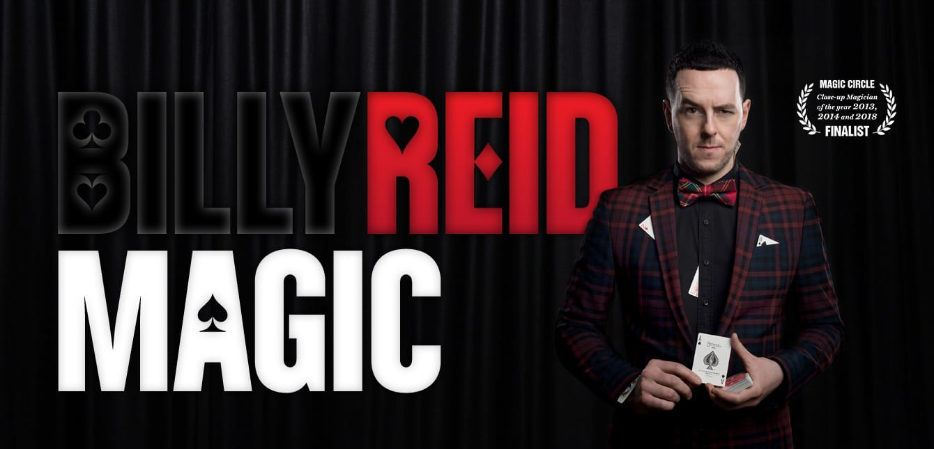 Scottish close-up magician Billy Reid